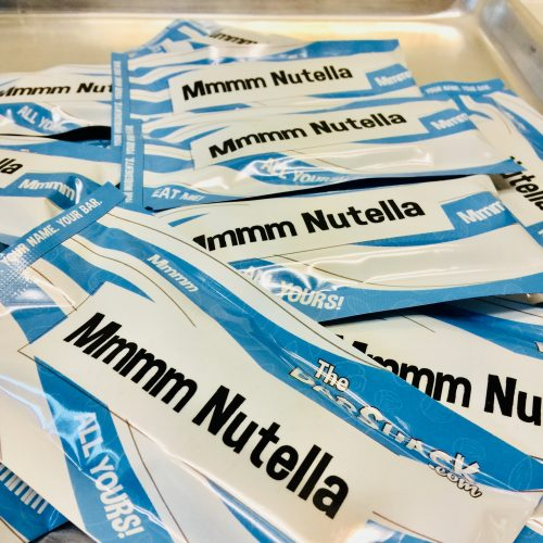 Mmm Nutella protein bar package