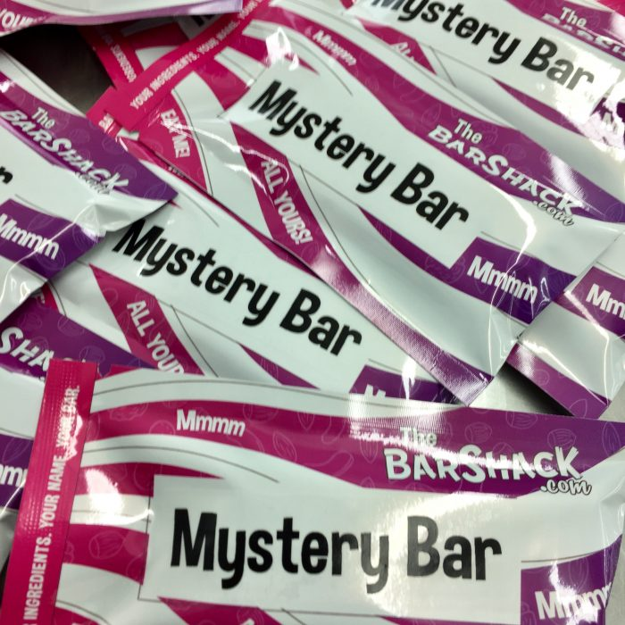 Mystery bar protein bar Package