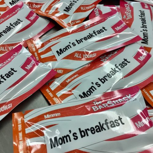 Mom's breakfast protein bar package