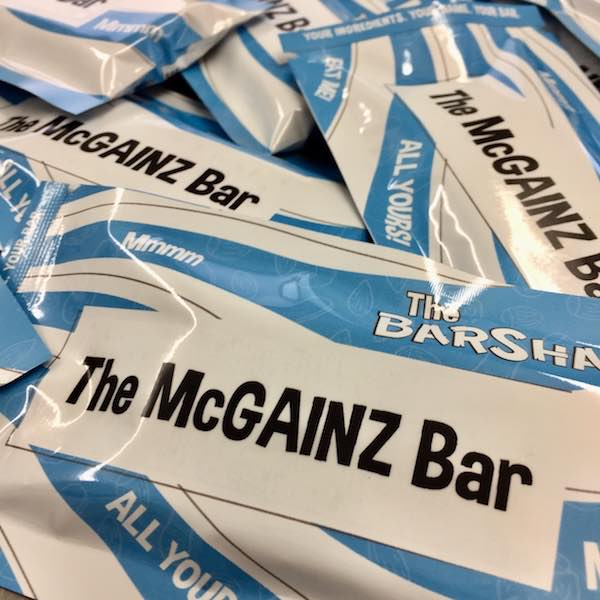 McGAINZ protein bar Package
