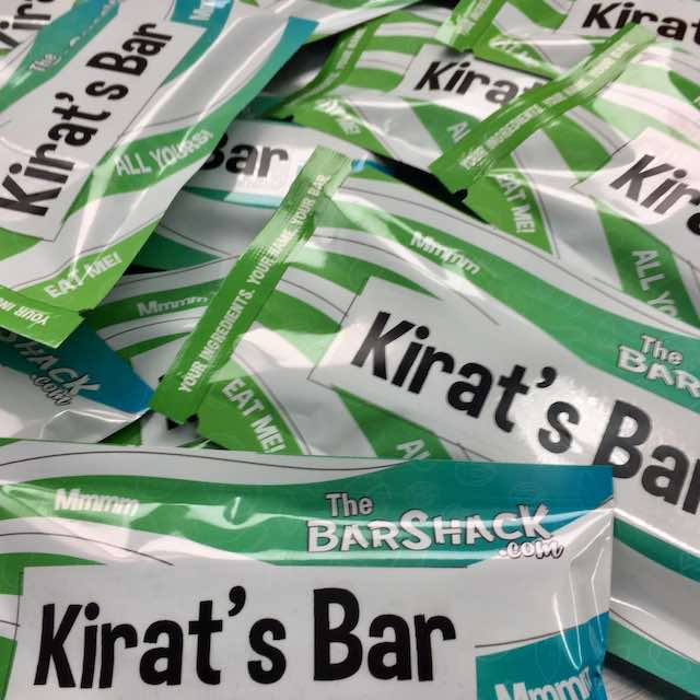 Kirat's protein bar package