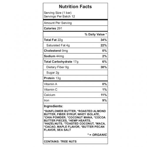 Julesy's Keto - Roasted Protein bar nutrition