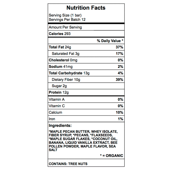 president buldas protein bar nutrition chart