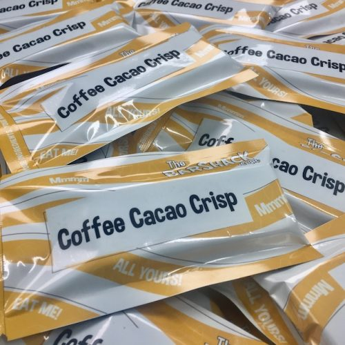 Coffee Cacao Crisp protein bar package