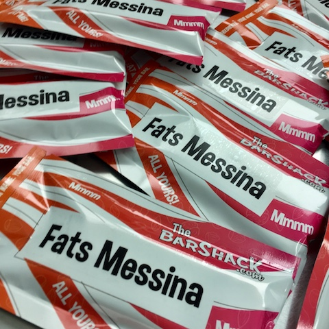 fats messina protein bar package