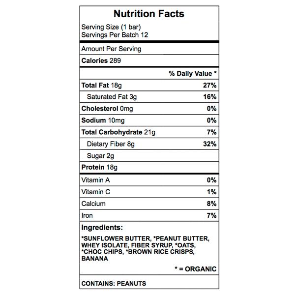 john's bar nutrition chart