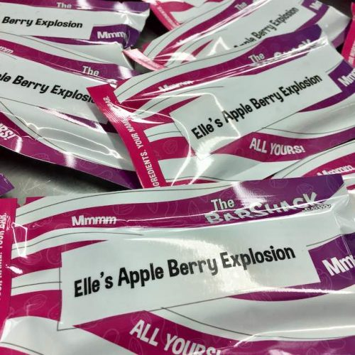 Elle's Apple Berry Explosion Protein Bar Package