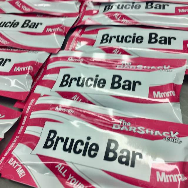 'Brucie Bar' Protein bar package