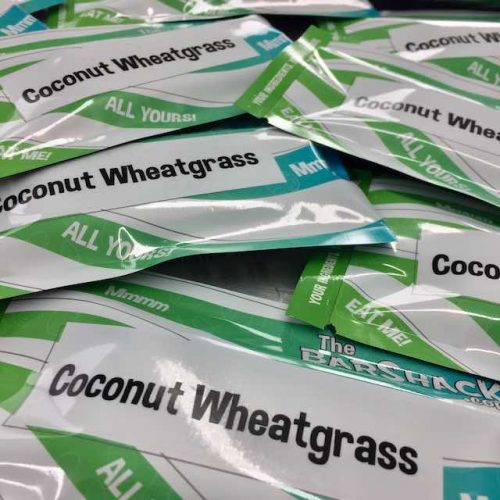 Coconut Wheatgrass Protein Bar Package