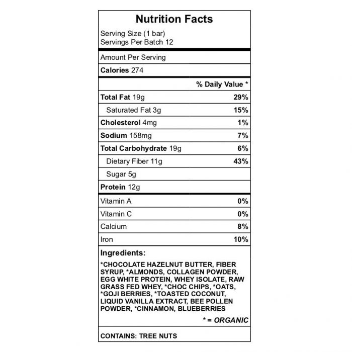 Barry's Protein Bar Nutrition