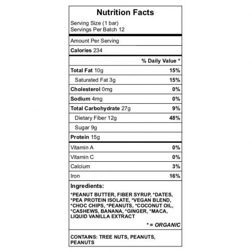 Yum Health Protein Bar Nutrition
