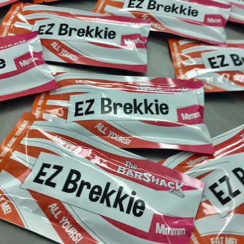 EZ Brekkie protein bar package