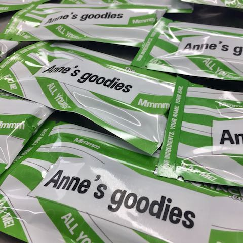 Anne's goodies protein bar package
