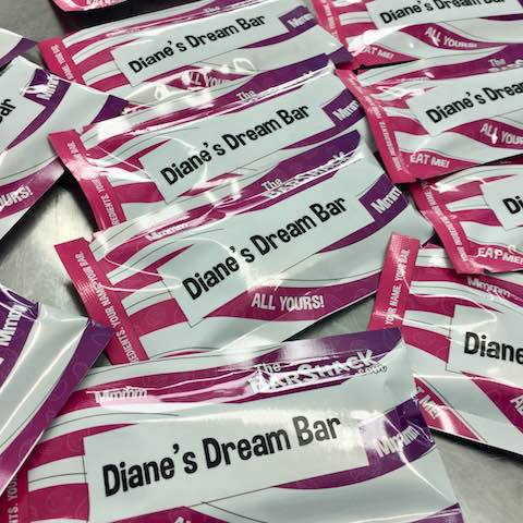 Diane's Dream protein bar package