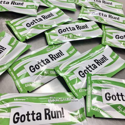 Gotta Run! protein bar package