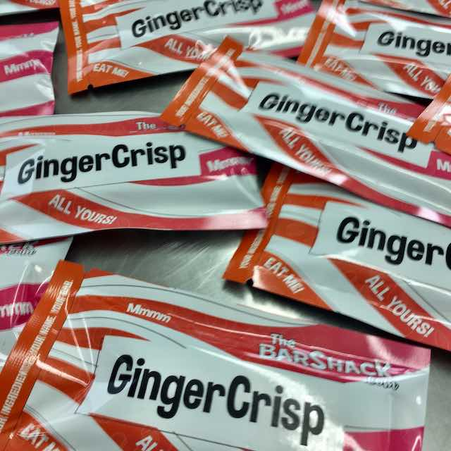 GingerCrisp protein bar package