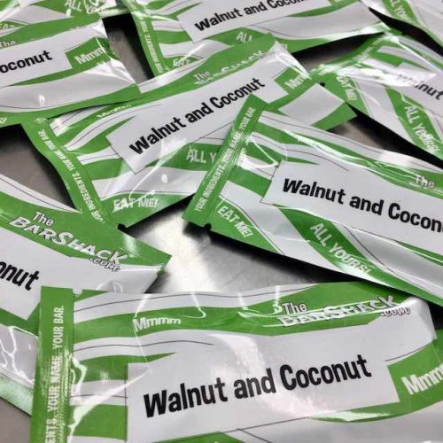 Walnut and Coconut protein bar package