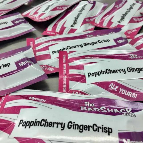 PoppinCherry GingerCrisp protein bar package