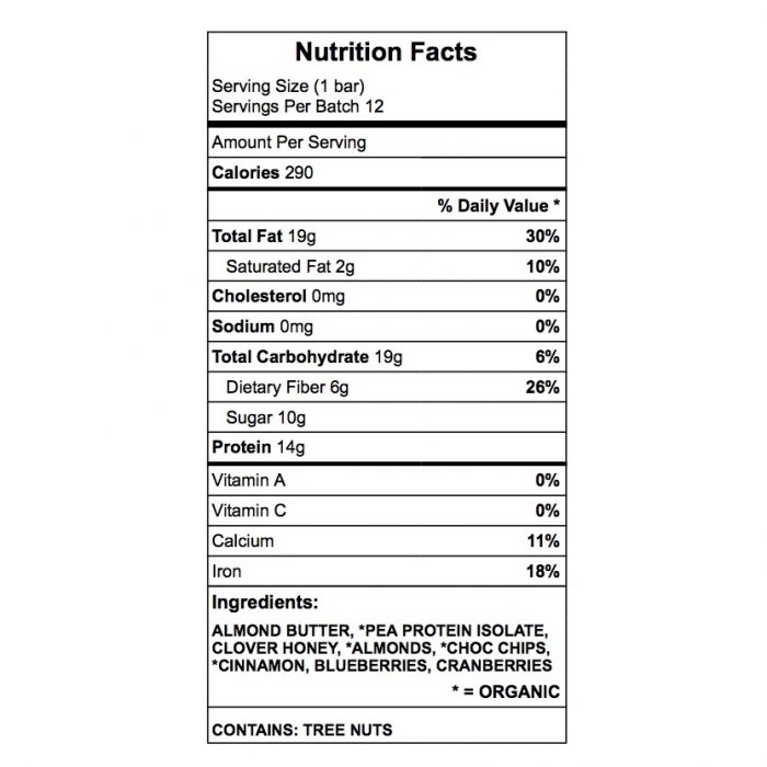 cinnamon chip nutrition