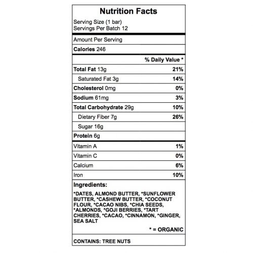 Denise Protein Bar Nutrition