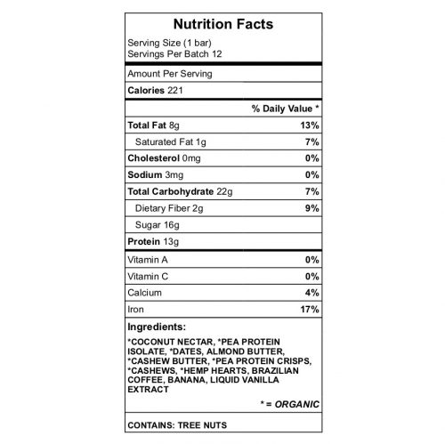 Elmusg protein bar nutrition