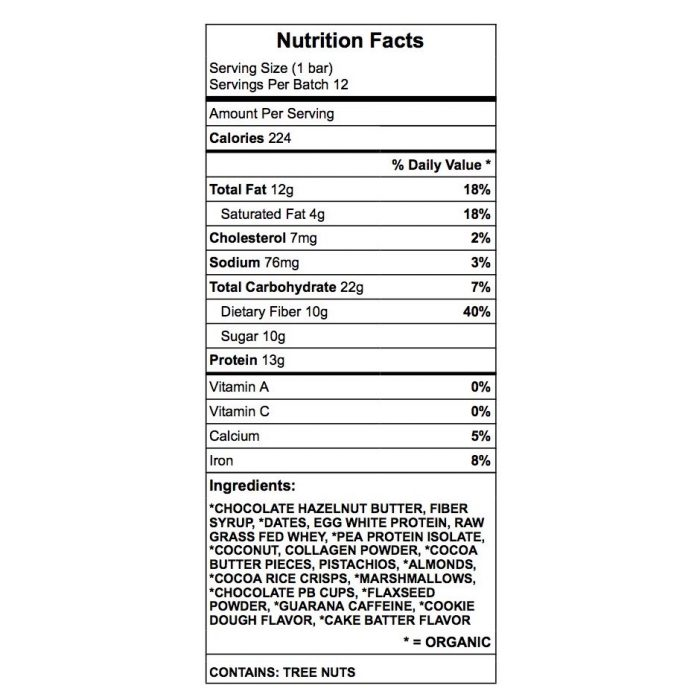 Fun Fiber Bar Nutrition