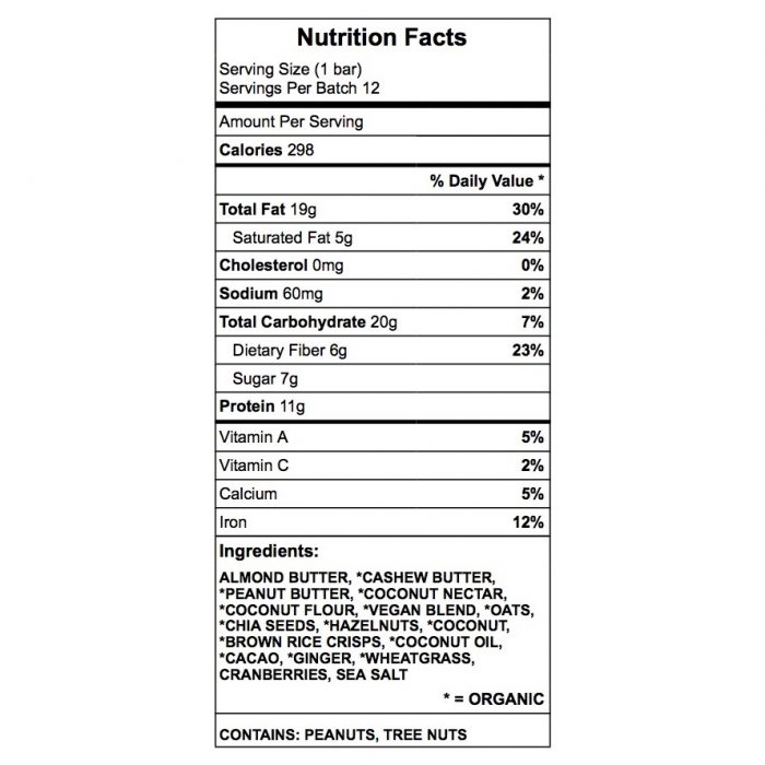 The black panther (dr Kang) protein bar nutrition