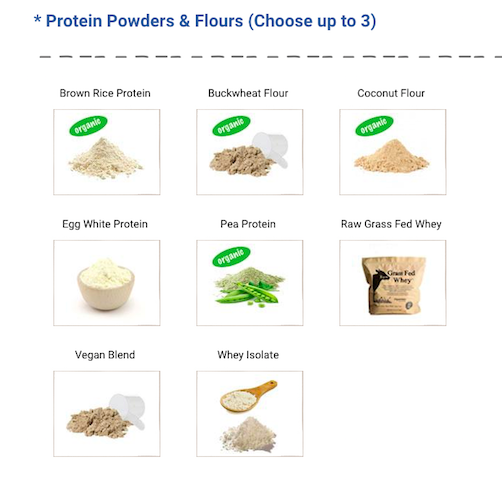 vegan and non-vegan protein powders
