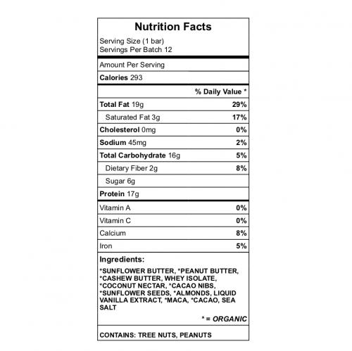 Roo Bar Nutrition