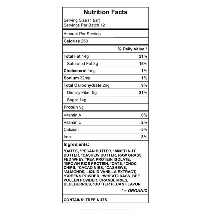 Curt's Chew Bar Nutrition